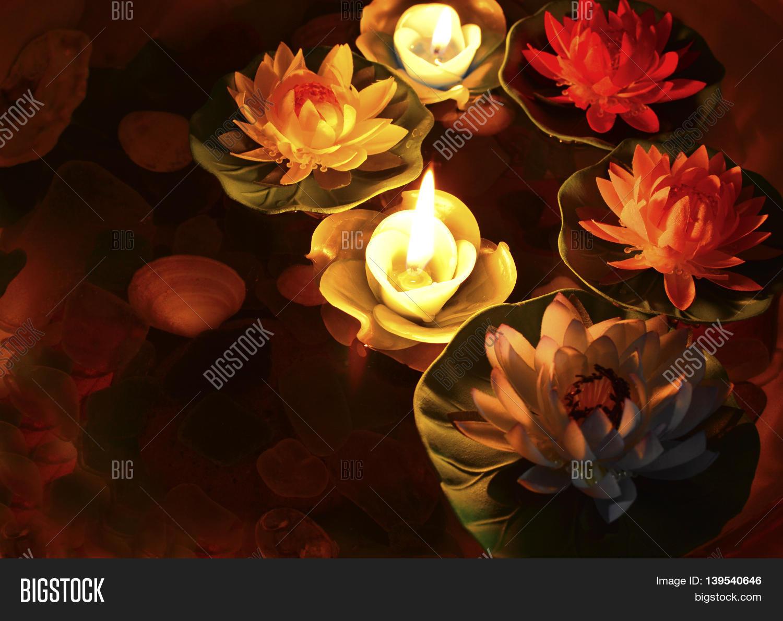 Lotus Flower Burning Image Photo Free Trial Bigstock