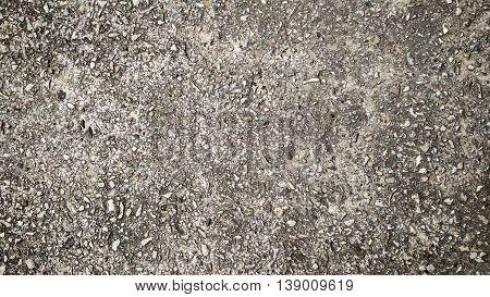 gray grained grunge concrete macadam asphalt background