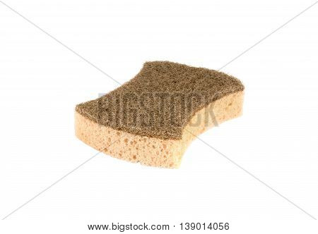 natural coconut brown sponge on white background