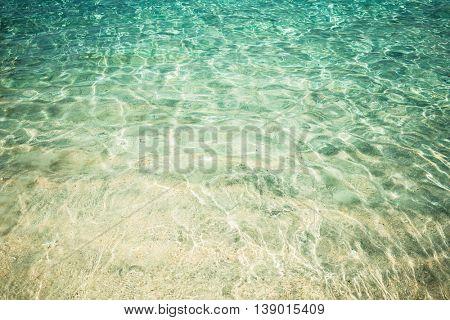 Crystal clear sea water at tropical beach