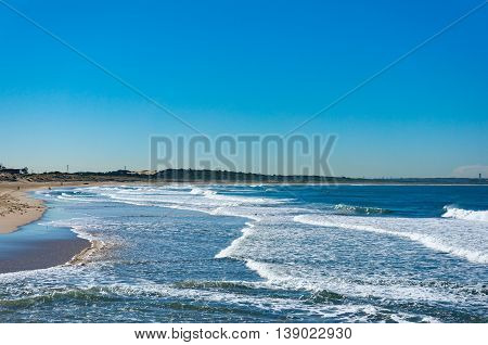 Beautiful Ocean Beach With Blue Sky