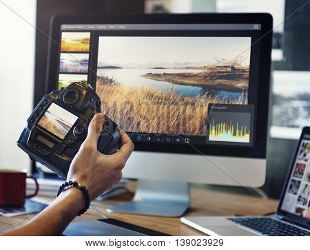 Camera Digital Photograph Studio Focus Shooting Concept