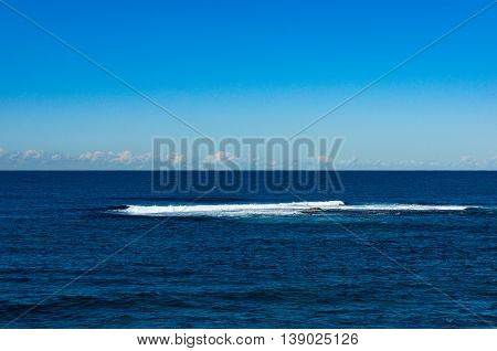 Abstract Nature Background Of Sky And Sea Horizon