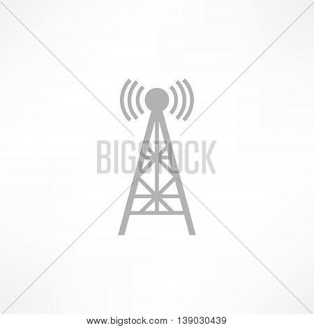 Vector illustration radio antenna wireless. Technology and network signal radio antenna. Wave tower radio antenna.