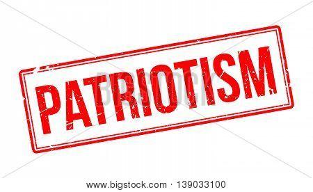 Patriotism Rubber Stamp