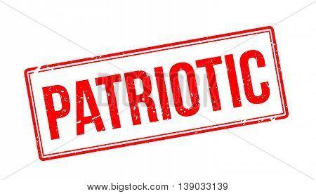 Patriotic Rubber Stamp