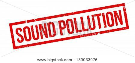 Sound Pollution Rubber Stamp