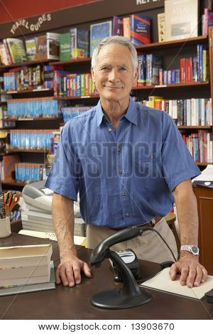 Male bookshop proprietor