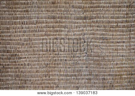 Traditional thai style pattern nature background of brown handicraft weave texture wicker surface for furniture material