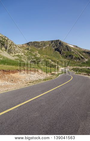 Mountain road / Transalpina highway, the highest road in Romania