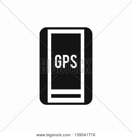 Global Positioning System icon in simple style isolated vector illustration
