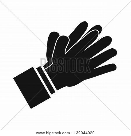 Clapping applauding hands icon in simple style isolated vector illustration