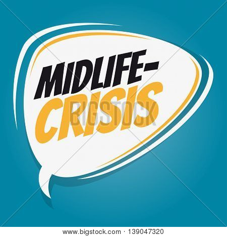 midlife-crisis retro speech balloon