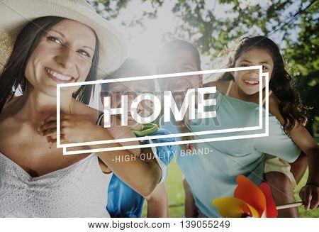 Family Home Parents Children Happy Concept