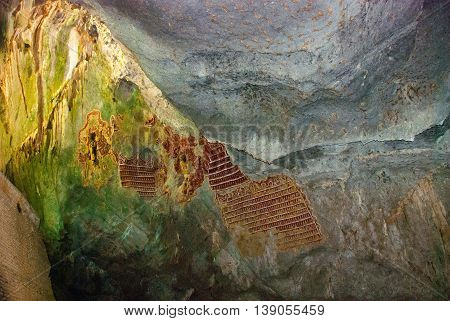 An Ancient Religious Cave. The View From The Inside. Hpa-an, Myanmar. Burma.