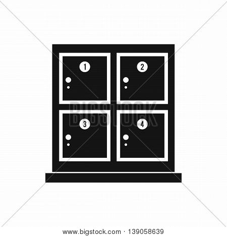 Cells for storage in the supermarket icon in simple style isolated vector illustration