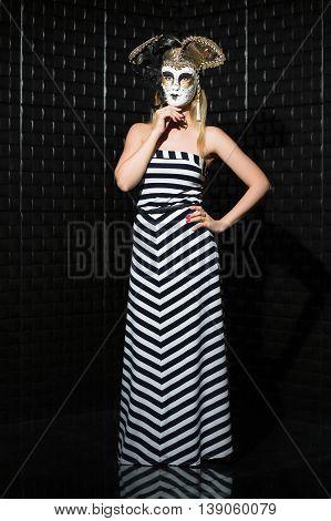 Pretty Woman Wearing Long Dress