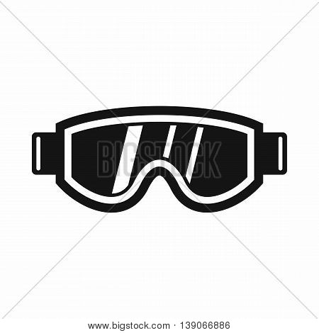 Skiing mask icon in simple style isolated vector illustration
