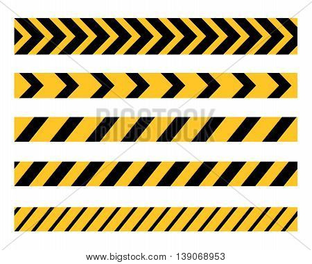 Vector set of Danger and Police Tape Lines for restriction and dangerous zones, construction site, crime places, eps8