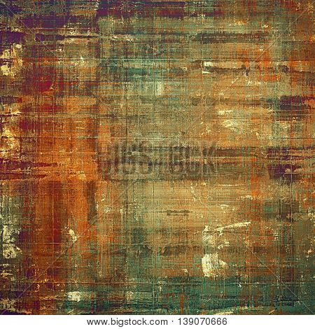 Creative vintage grunge texture or ragged old background for art projects. With different color patterns: yellow (beige); brown; gray; green; red (orange); purple (violet)