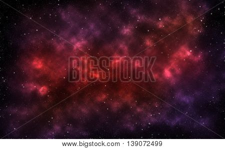Beautiful far galaxy abstract background. Deep space with stardust and shining stars. Red star dust and pixie dust concept. Milky way conceptual background. Far far away space atmosphere.