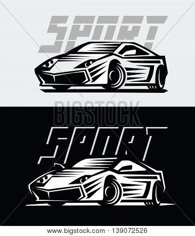 vector illustration of a sport cars emblem