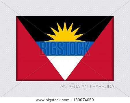 Flag Of Antigua And Barbuda. Rectangular Official Flag With Proportion 2:3