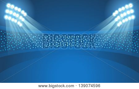 Light stadium mast vector illustration. Stadium template