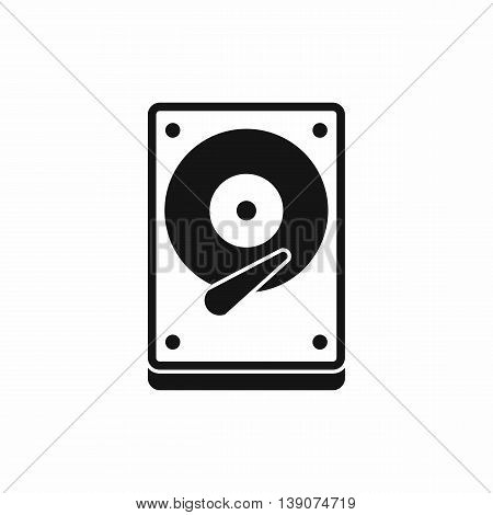 HDD icon in simple style isolated vector illustration