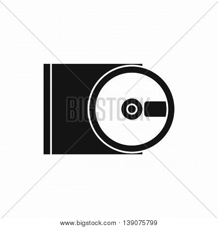 DVD drive open icon in simple style isolated vector illustration