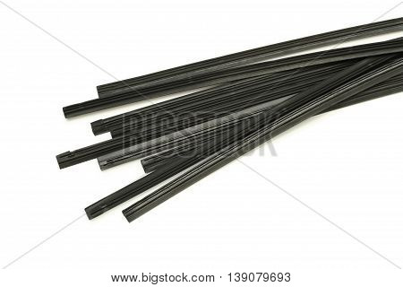 Wiper blade rubber refill isolated on white background