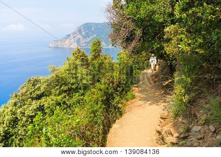 Coastal Hiking Trail In Monterosso, Cinque Terre, Italy