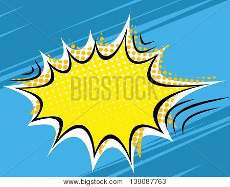 Grunge Retro Comic Speech Bubbles. Vector Illustration on Strip Background. Abstract Talking Clouds and Sounds