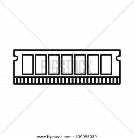 DVD RAM module for the personal computer icon in outline style isolated vector illustration poster