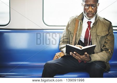 African Descent Businessman City Lifestyle Concept