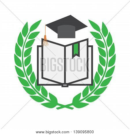 Education concept with mortarboard vector eps 10