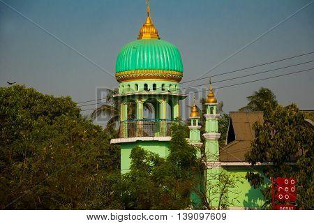 Muslim Mosque. Bago In Myanmar. Burma.