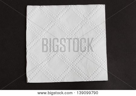The kitchen napkin isolated on black background