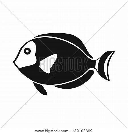 Surgeon fish icon in simple style isolated vector illustration