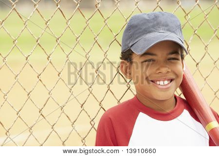 Young Boy Playing Baseball