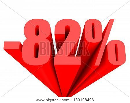 Discount 82 Percent Off Sale.
