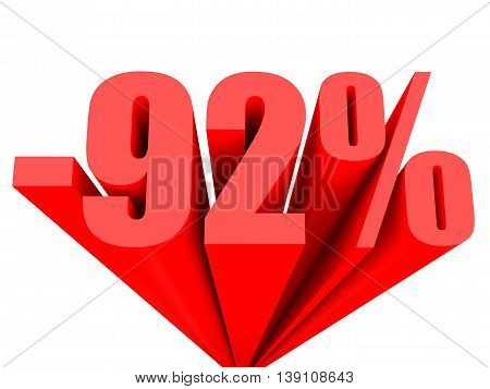 Discount 92 Percent Off Sale.