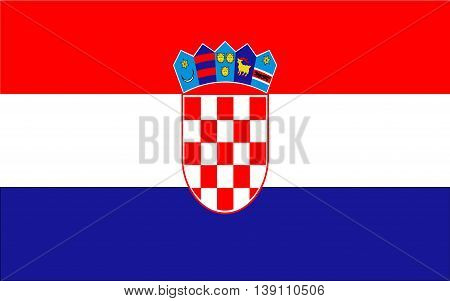 Croatia Flag  color and size original vector