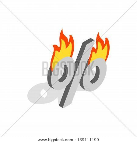 Last minute discounts icon in isometric 3d style isolated on white background. Buy symbol