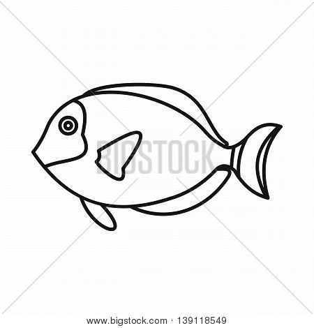 Surgeon fish icon in outline style isolated vector illustration