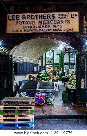 Borough Market In Southwark, Central London, Uk