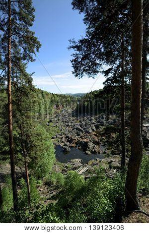 Outlook Over Doeda Fallet, The Dead Fall, In Sweden