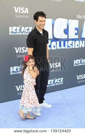 LOS ANGELES - JUL 17:  Max Greenfield at the 'Ice Age: Collision Course' at the 20th Century Fox Lot on July 17, 2016 in Los Angeles, CA