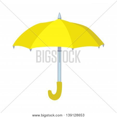 Cartoon multi colored umbrella flat design style. Autumn accessory concept fashion umbrella. Colorful flat collection comfort umbrella outdoor element, climate protective sign. poster