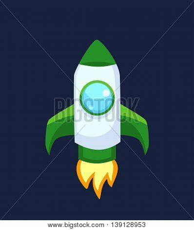 Rocket set vector and technology space ship rocket cartoon icons. Science future travel rocket and shuttle fly rocket. Speed galaxy fantasy rocket and futuristic spacecraft, astronaut modern element.